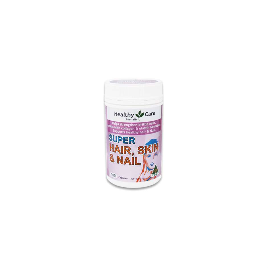 Hair Skin & Nails 100 Capsules - Healthy Care