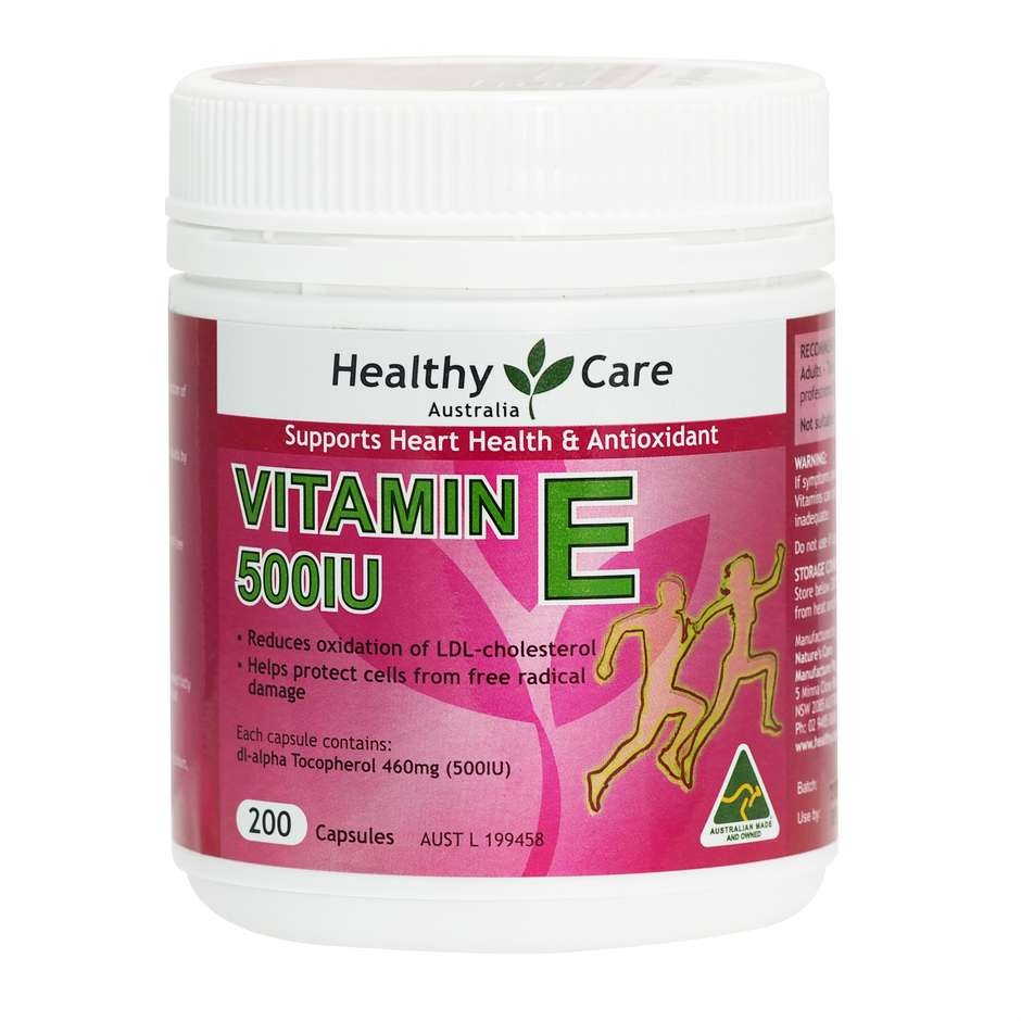 Vitamin E 500IU 200 Capsules NEW - Healthy Care