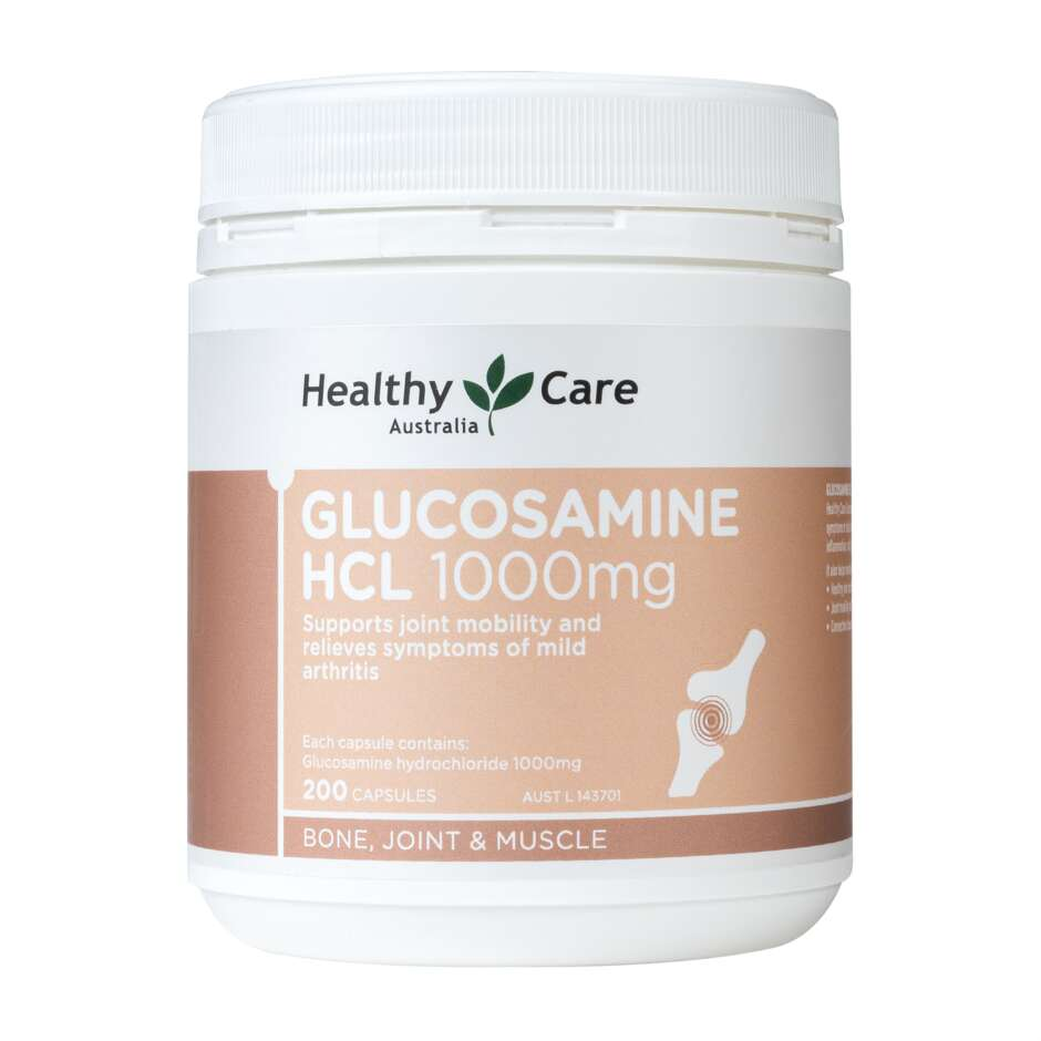 Glucosamine HCL 1000mg 200 Capsules - Healthy Care