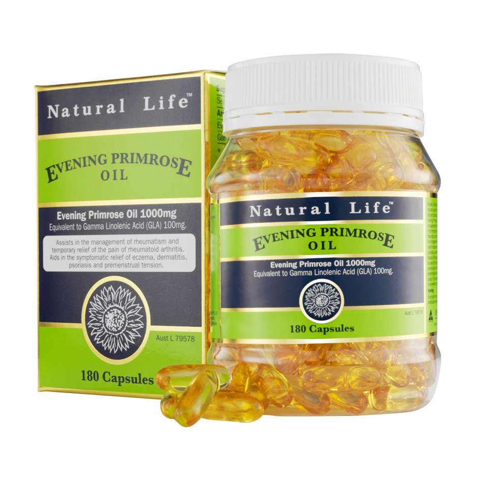 Evening Primrose Oil 1000mg 180 Capsules - Natural Life