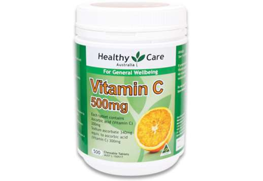 Vitamin C 500mg Chewable 500 Tablets - Healthy Care
